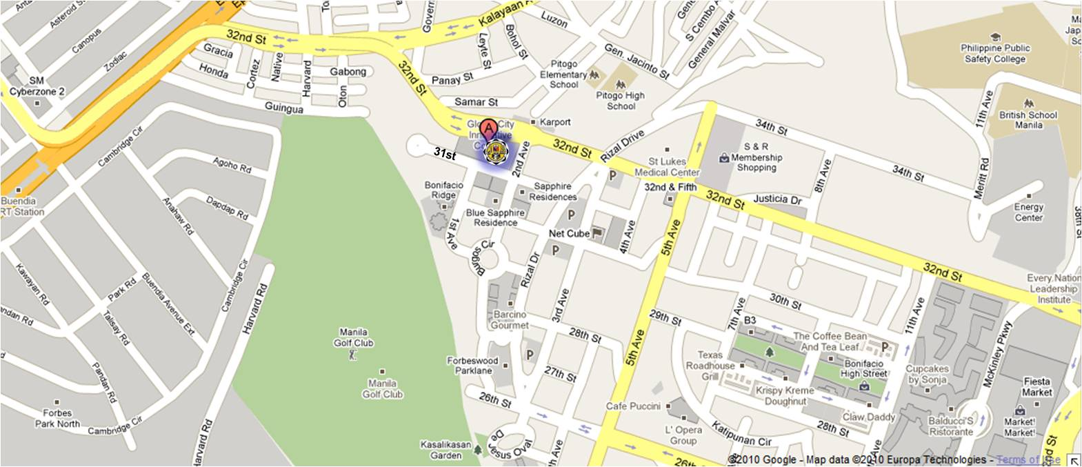 Map Location of RDO 44 - Taguig City
